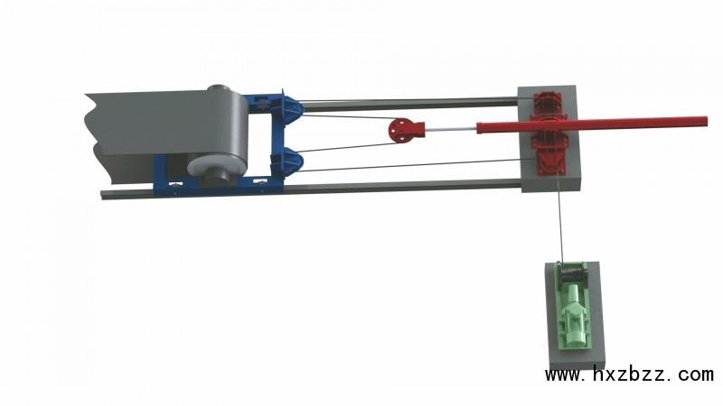 张紧装置由机械系统,液压系统,电控系统组成,其中液压系统包含储能站.图片